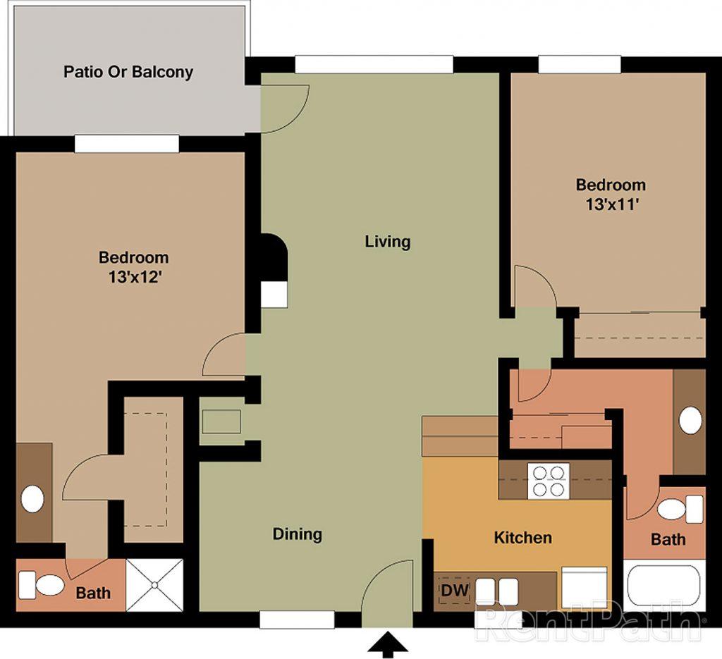 2 Bedroom Floorplan