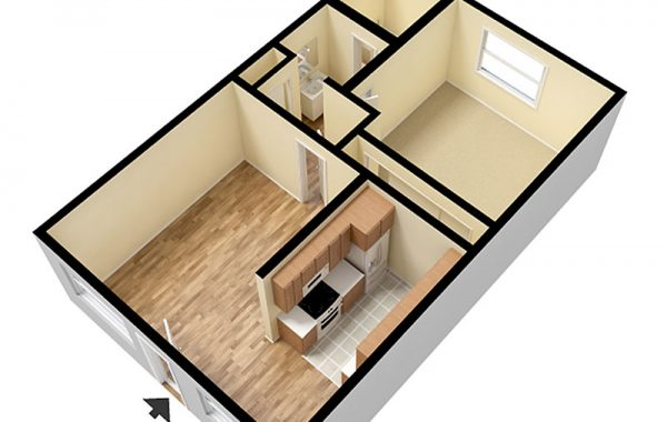 1 Bedroom Layout